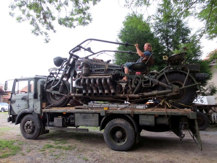 Транспортировка Panzerbike.