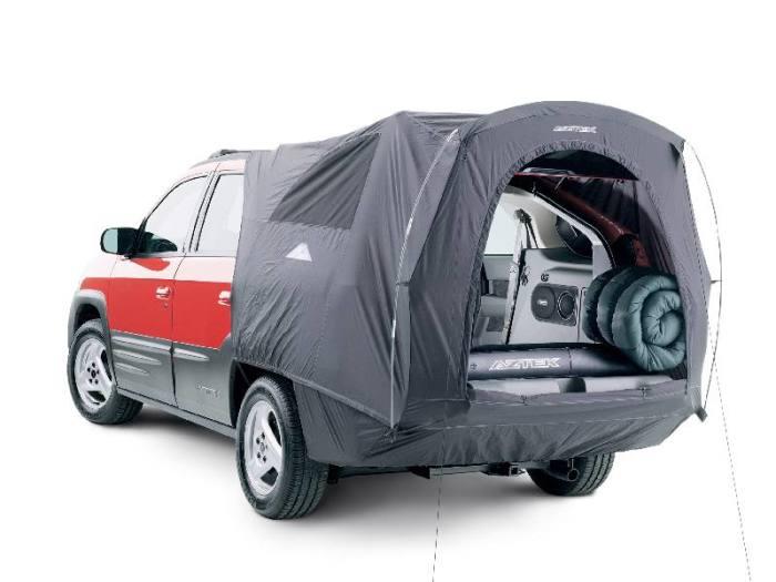 Pontiac Aztek с опциональной палаткой-кемпингом. | Фото: pinterest.com.
