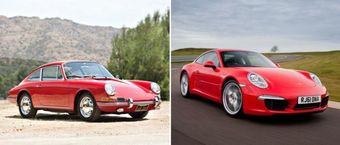 Спортивные купе Porsche 911: версия 1965-67 годов и самая свежая модификация 991.