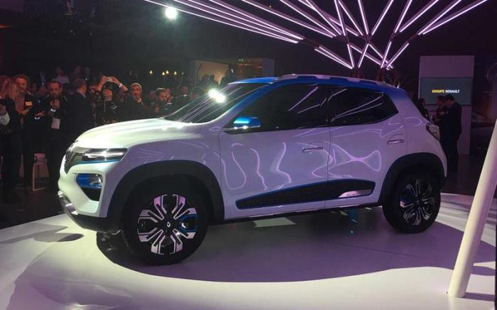 Электромобиль Renault K-ZЕ – новинка Парижского автосалона 2018 года. | Фото: autocar.co.uk.