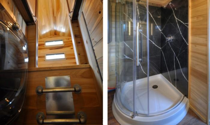 Основа уютной ванны - душевая кабинка. | Фото: inhabitat.com.