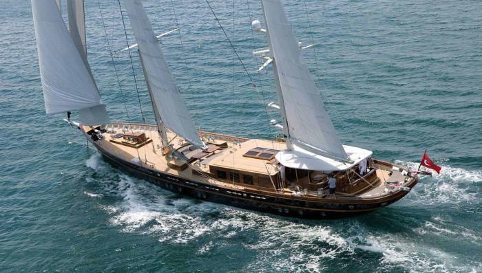 Трехмачтовая двухвинтовая яхта Roxane.