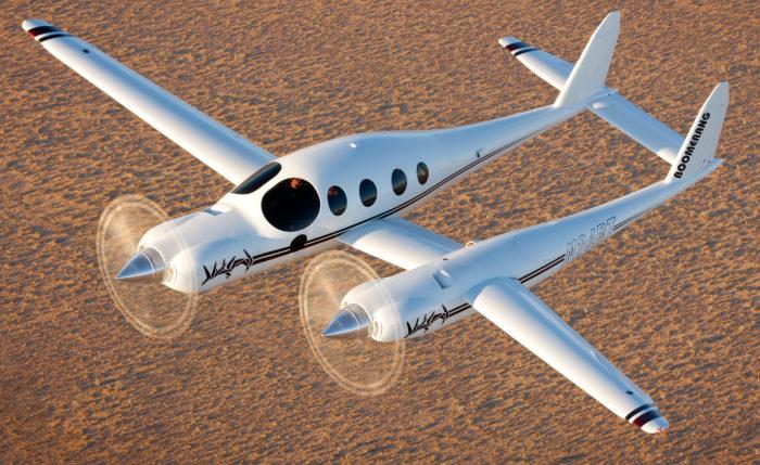 Rutan Boomerang – самолет с крыльями разной длины. | Фото: chadslattery.com.