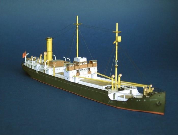 Модель парохода SS Baychimo. | Фото: papershipwright.co.uk.
