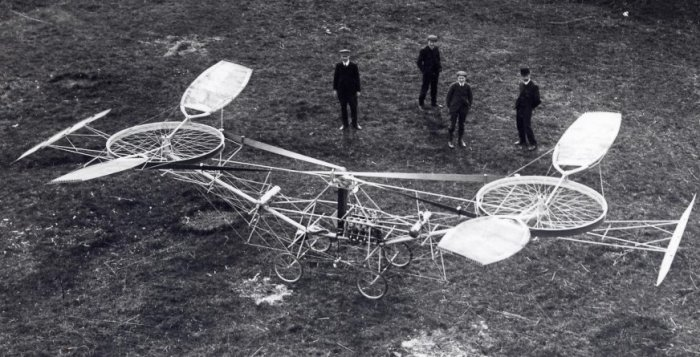 Вертолет французского изобретателя Поля Корню. | Фото: oldpicz.com.