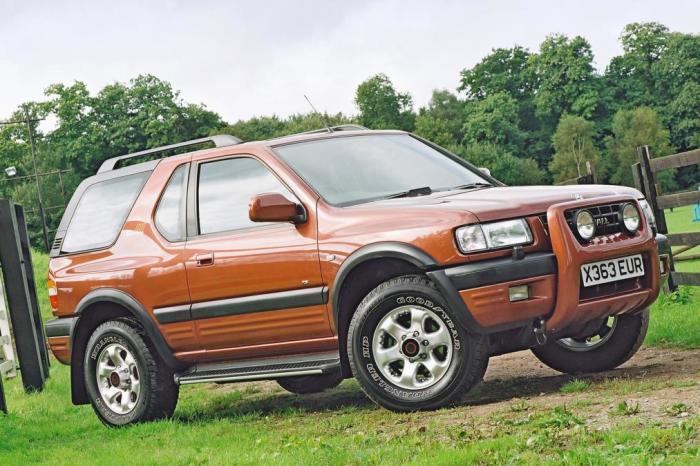 Vauxhall Frontera – британская версия японского рамного внедорожника.