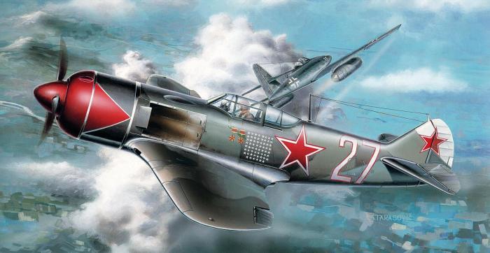 Пилотам истребителей Ла-7 в небе над Германией встречались даже реактивные немецкие самолеты Ме-262. | Фото: warwall.ru.