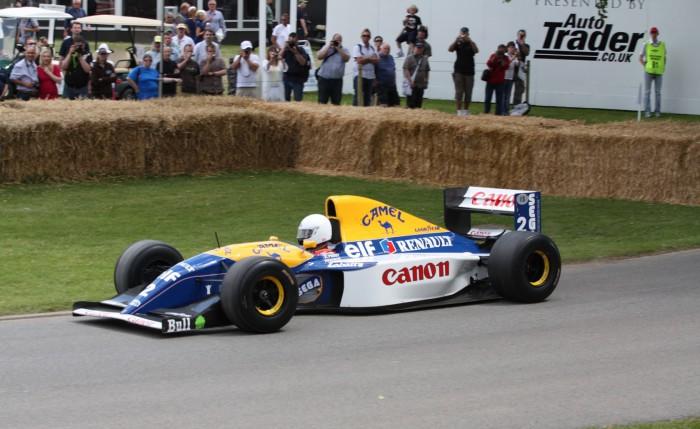 Williams FW15C был запрещен, так как оказался слишком быстрым.
