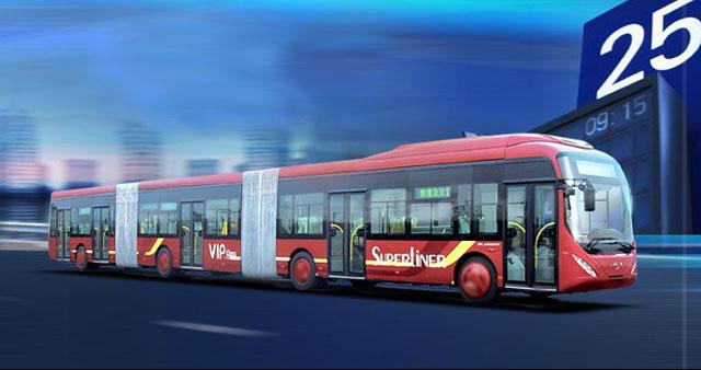 Трехзвенный автобус из Поднебесной.