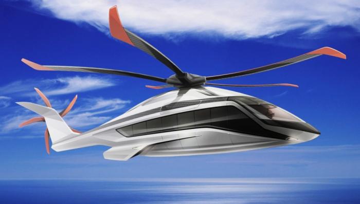 Тяжелый вертолет Airbus X6 с обтекаемым фюзеляжем и 5-лопастным винтом. | Фото: robbreport.com.