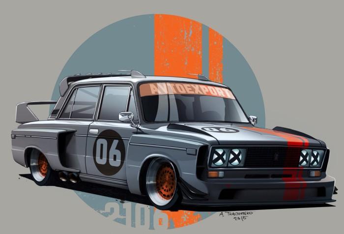 ВАЗ-2106 гоночной команды «Автоэкспорт».