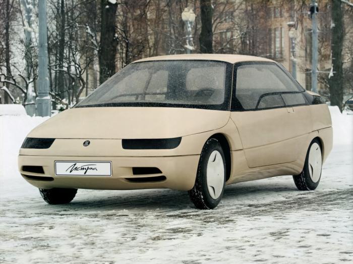 Перспективный седан с алюминиевым кузовом.