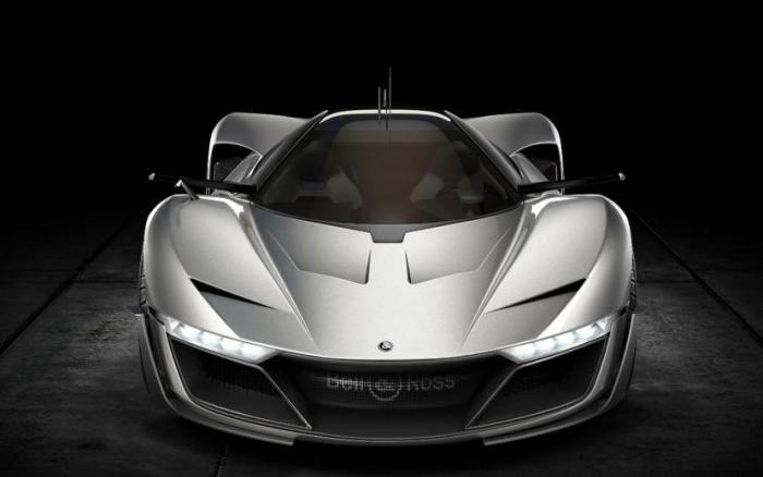 Узкие фары и зеркала дополняют «острый» облик суперкара Bell & Ross Aero GT.