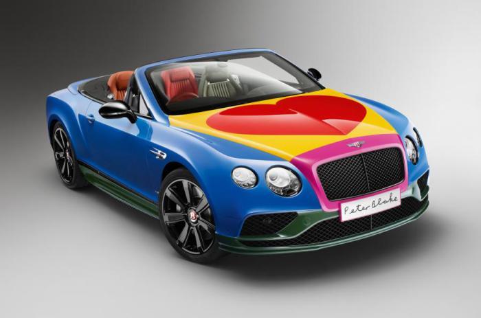 Единственный экземпляр Bentley с уникальной окраской.