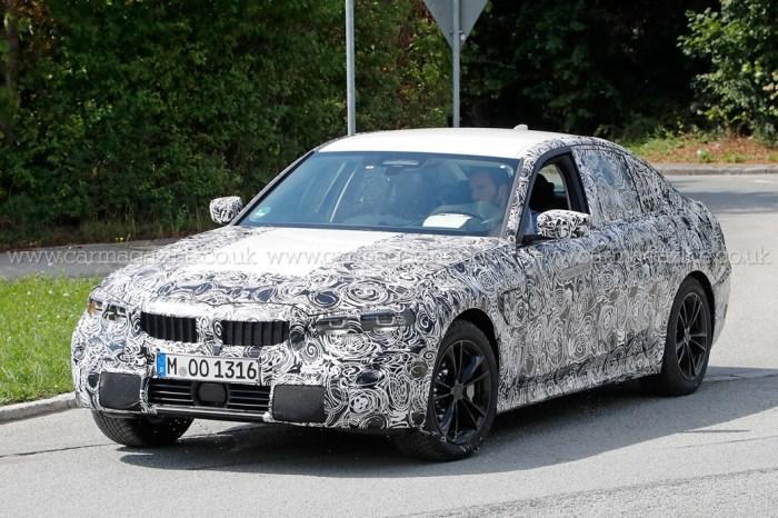 Шпионское фото новой «тройки» от BMW. | Фото: carmagazine.co.uk.