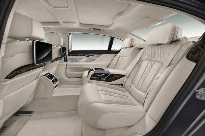Задние сиденья в новом BMW 7-й серии. | Фото: autoexpress.co.uk.