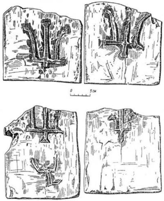Клейма на кирпиче периода Киевской Руси. | Фото: tehlib.com.