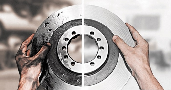 Новый и старый тормозной диск. | Фото: okeydrive.ru.