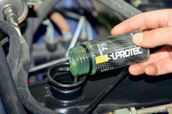 «Чудо-средство», которое должно спасти двигатель от износа. | Фото: suprotec.ru.