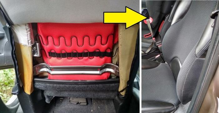 Делаем поясничный упор водительского кресла своими руками.