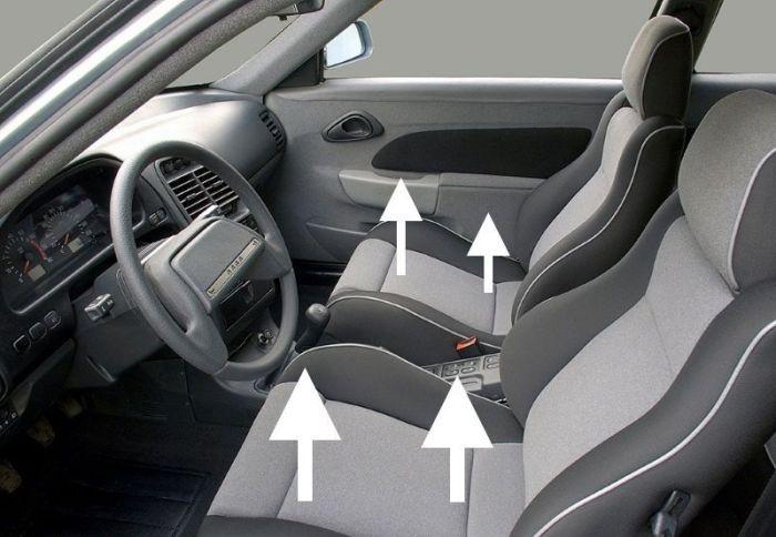 Если высота сидений не регулируется, то у «длинноногих» и «коротконогих» водителей посадка будет далеко не самой удобной. | Фото: лада2111.рф.