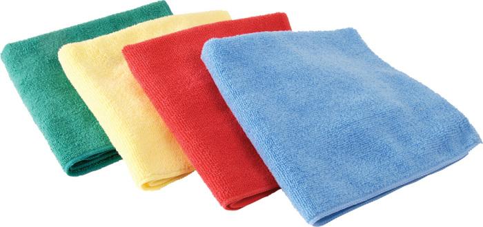 Тряпки из микрофибры уже продаются вот такими цветными наборами. | Фото: mop.tkat.ru.