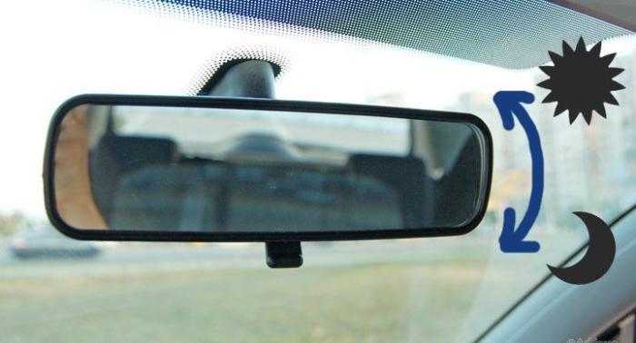 Оказывается, салонное зеркало тоже имеет регулировки.   Фото: funnyreps.info.