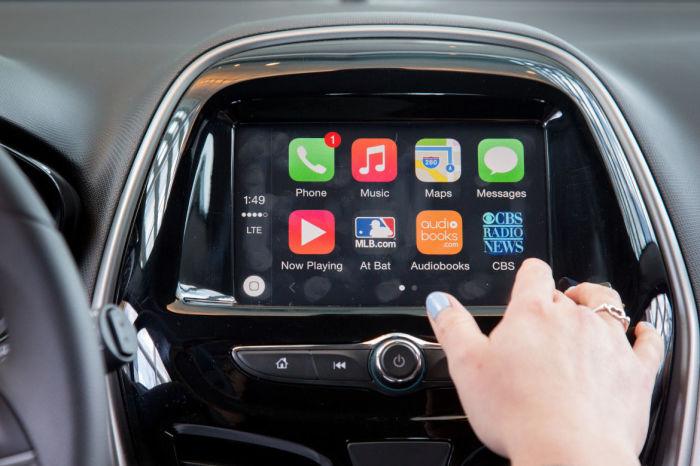 Демонстрация работы Carplay от Apple.