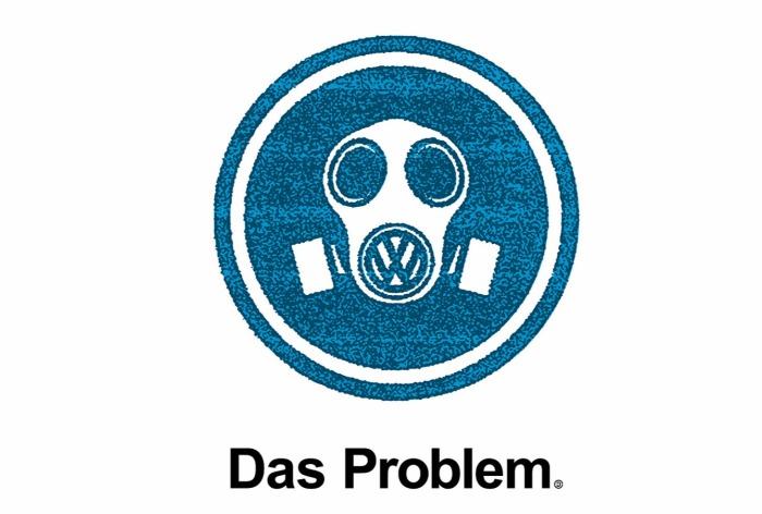Плакат, высмеивающий автомобили Volkswagen.