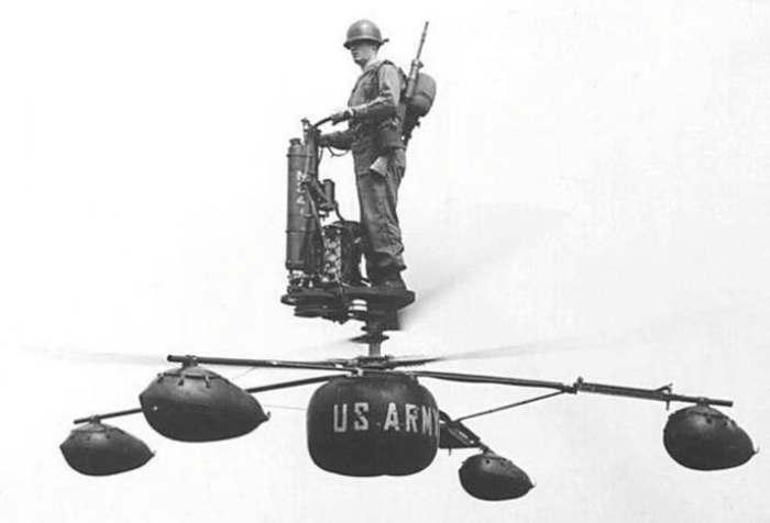 Полет на экспериментальном вертолете de Lackner HZ-1 Aerocycle. | Фото: huckberry.com.