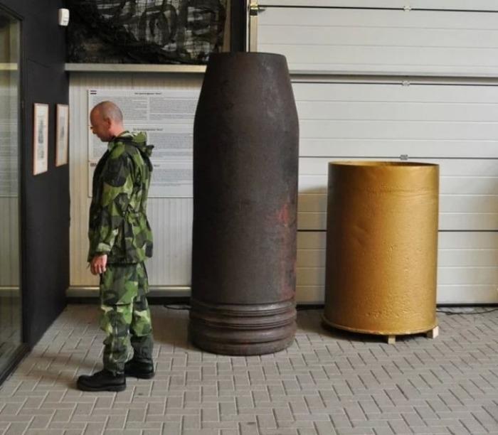 Снаряд немецкой артиллерийской системы «Густав». | Фото: thevintagenews.com.