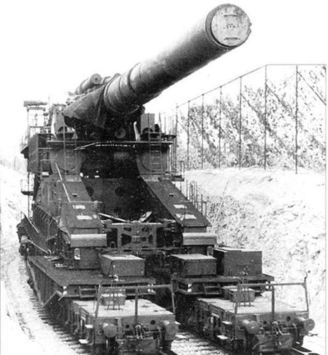 Лафет орудия представляет собой специальную ж/д платформу.   Фото: xdigest.ru.