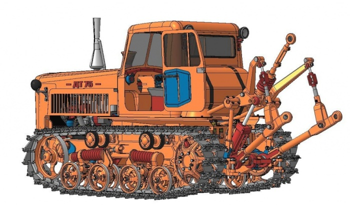 На тракторе ДТ-75 можно было использовать различное навесное оборудование. | Фото: textron-zapchasti.ru.