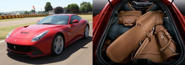 Ferrari F12 Berlinetta и эксклюзивный набор сумок для гольфа. | Фото: topgir.com.ua.