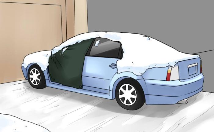 Смазать двери и автомобиль держать под тентом.