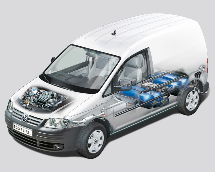 Volkswagen, работающий на газе.