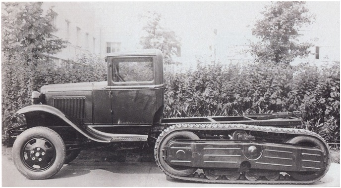 Полугусеничное шасси грузовика ГАЗ-60. Фото: rus-texnika.ru.