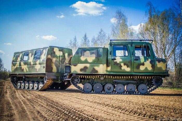 Двухзвенный снегоболотоход ГАЗ-3344 выпускается с 2012 года. | Фото: dobriy-vasya.livejournal.com.