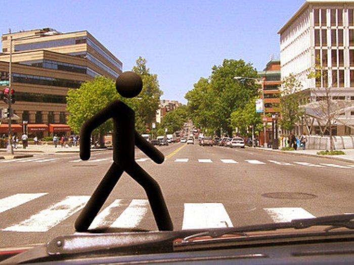 «Пешеход» на «зебре». | Фото: avtovzglyad.ru.