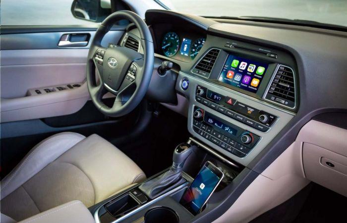 Салон корейского седана Hyundai Sonata. | Фото: autodrop.ru.