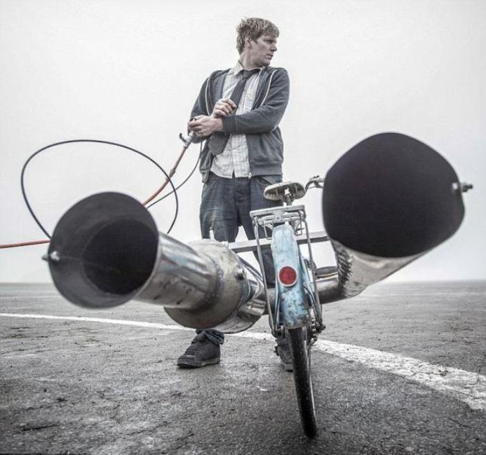 Даже у велосипеда может быть двигатель. | Фото: dailymail.co.uk.