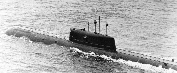 Советская атомная торпедная подводная лодка «Комсомолец».   Фото: ru.wikipedia.org.