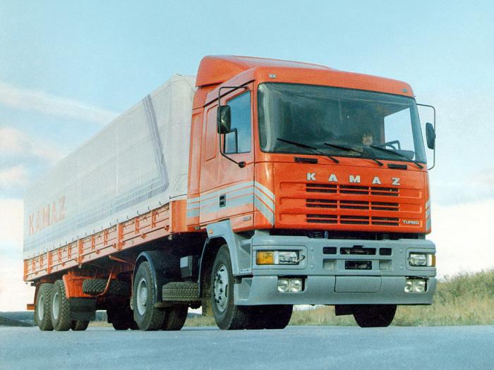 КамАЗ-5415М - экспериментальный седельный тягач 1988 года. | Фото: autowp.ru.