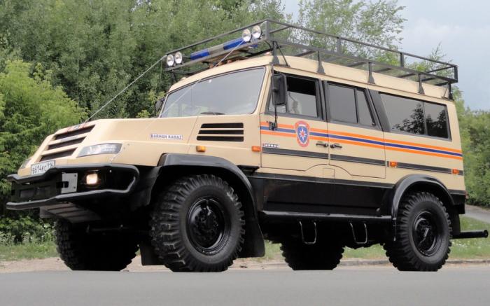 Опытный 12-местный автомобиль КамАЗ «Бархан». | Фото: autowp.ru.