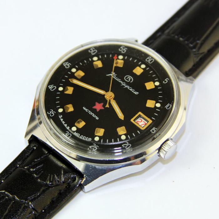 «Командирские» часы: заказ Министерства обороны СССР. | Фото: goldmoscow.net.