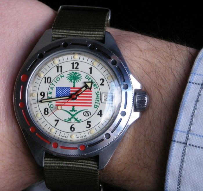 «Командирские» часы, выпущенные для американских ветеранов войны в Персидском заливе. | Фото: orologiko.it.