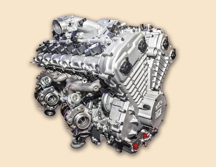Первый российский бензиновый двигатель V12. | Фото: autoreview.ru.