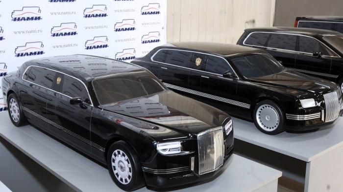 Макеты новых российских правительственных автомобилей «Кортеж». | Фото: youtube.com.