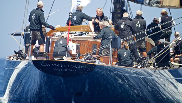Экипаж гоночной яхты Lionheart.