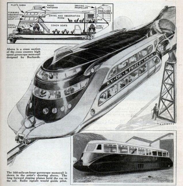 Поезд Бурхардта. | Фото: blog.modernmechanix.com.